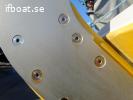 Hylsmutter M8 x 16 för roderplåtar
